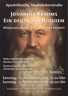 2016 Brahms Plakat