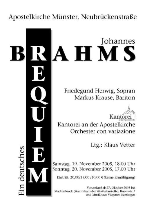 2005 Brahms Requiem