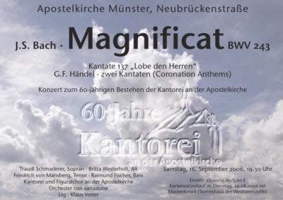 2006 Bach Magnifikat Kantate