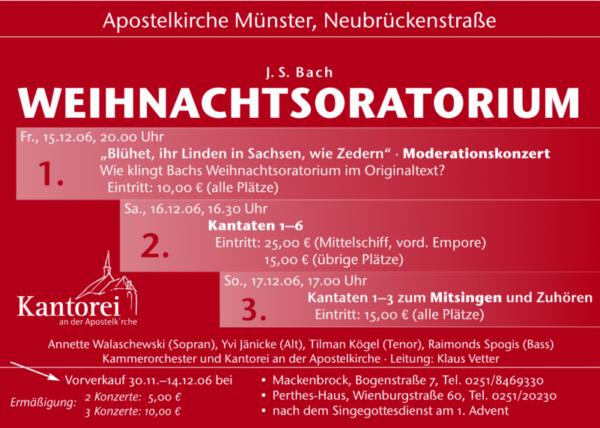 2006 Weihnachtsoratorium Plakat