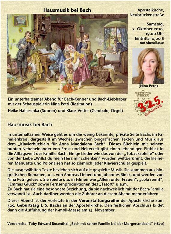 2010 Hausmusik Bach