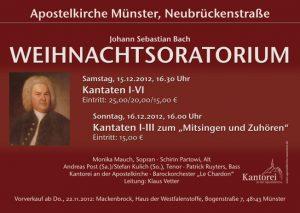 2012 Weihnachtoratorium Plakat