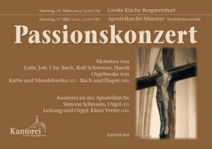 2013 Passionskonzert