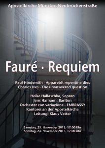 Plakat Faure Requiem