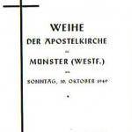 Weihe der Apostelkirche